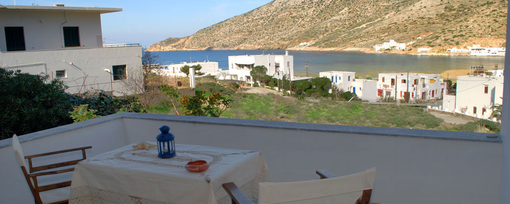 The view from Kirikos rooms in Kamares of Sifnos